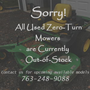 Out of Stock Zero Turns